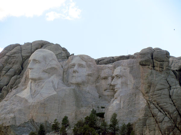 L'inévitable Mont Rushmore.