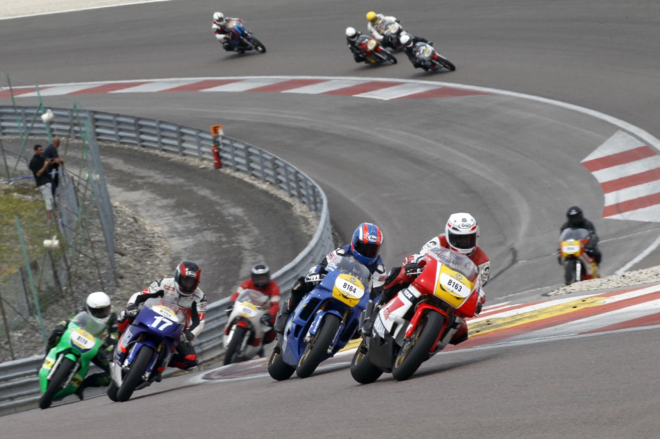Les motos de GP 500 en action
