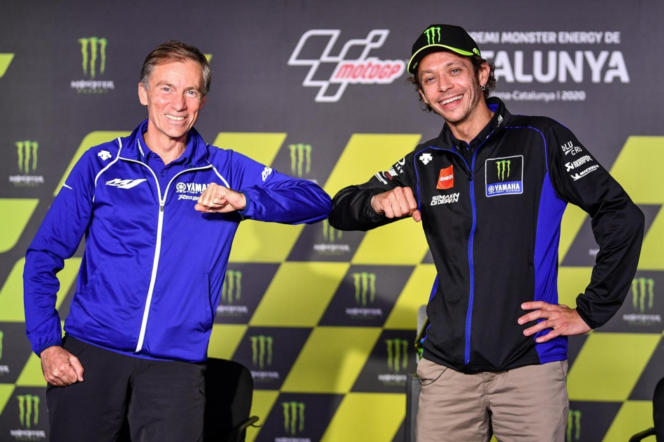 Lin Jarvis et Valentino Rossi